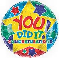 Congrats Congratulation Balloon Delivery And Decoration